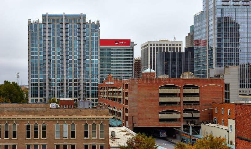 Budynki w w centrum Raleigh, Pólnocna Karolina zdjęcie royalty free