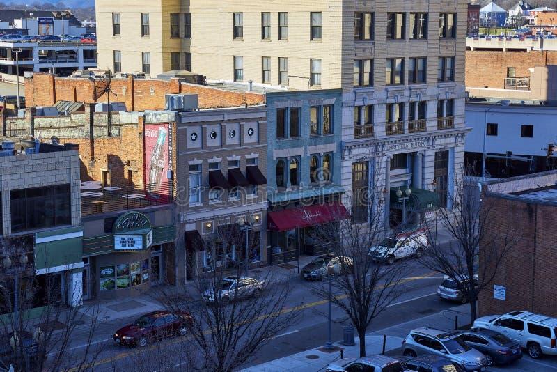 Budynki w W centrum Roanoke, Virginia zdjęcia royalty free