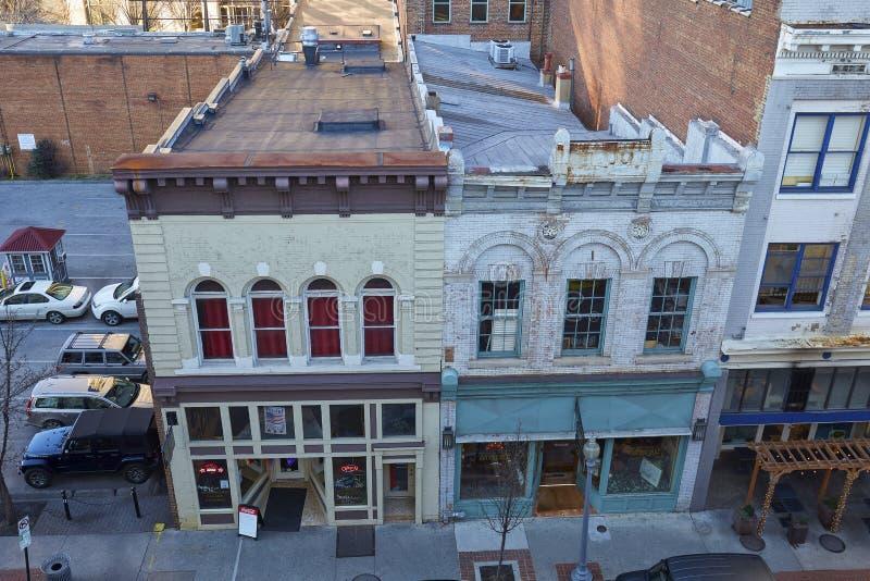 Budynki w W centrum Roanoke, Virginia obraz royalty free