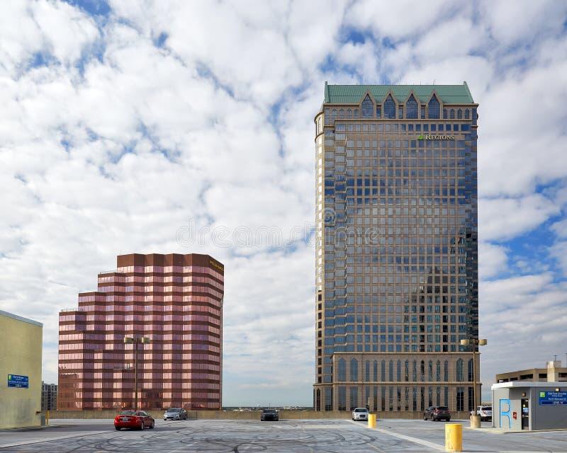 Budynki w W centrum Tampa, Floryda zdjęcie royalty free