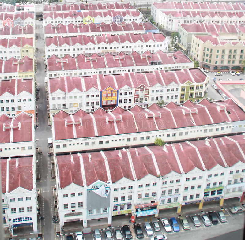 Budynki w Malacca obraz royalty free