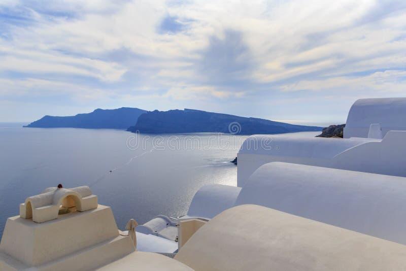 Budynki w Oia na Santorini fotografia royalty free