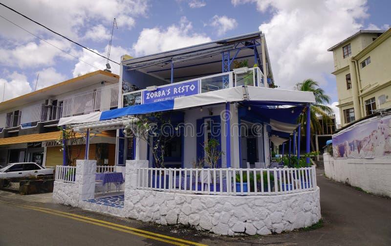 Budynki w Portowym Louis, Mauritius obrazy stock