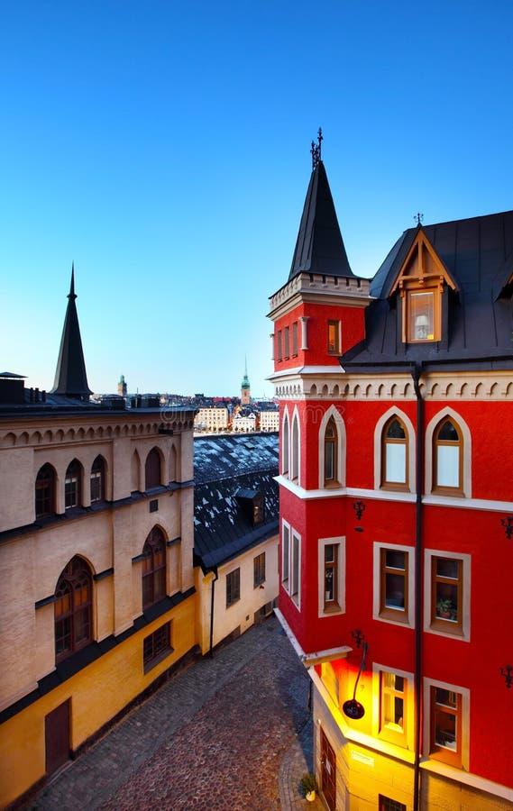 Budynki w Sztokholm obrazy royalty free
