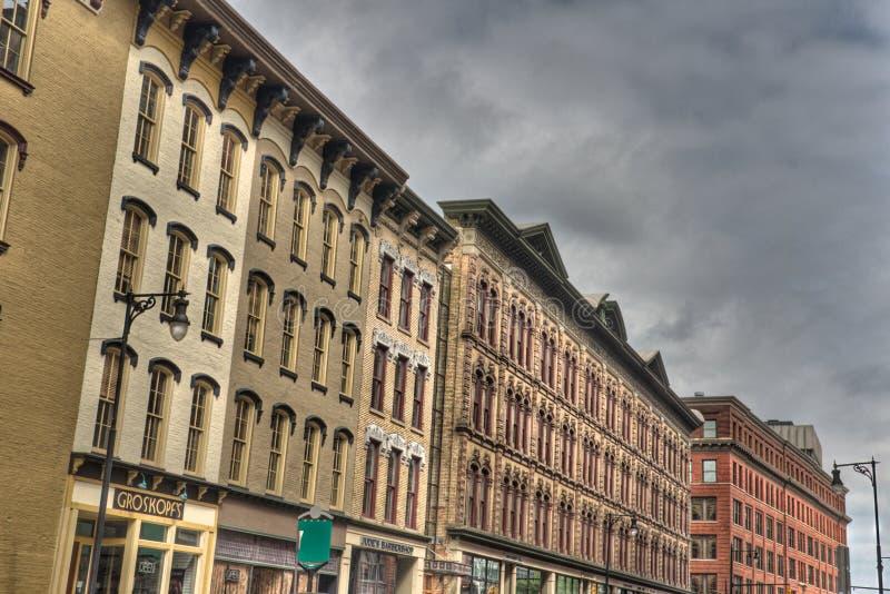 Budynki w Uroczystych gwałtownych obraz royalty free