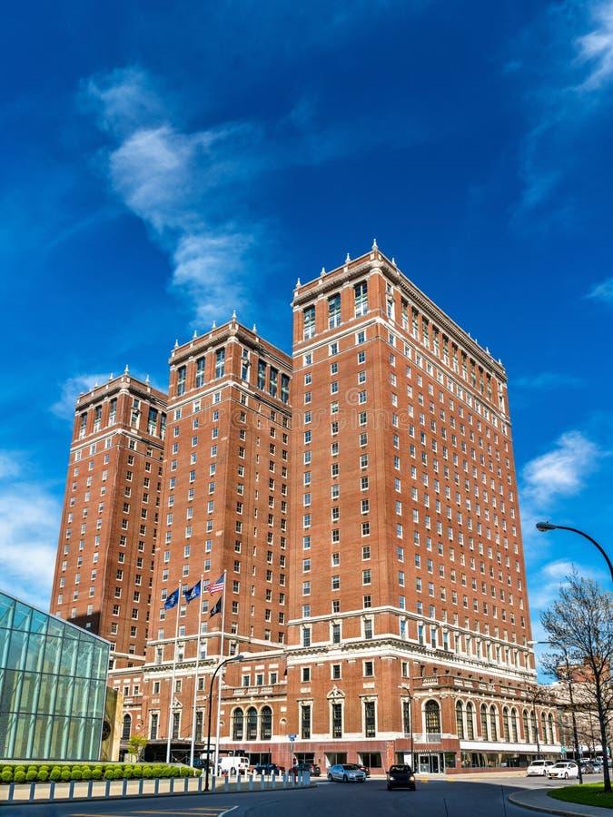 Budynki w w centrum bizonie - NY, usa fotografia stock