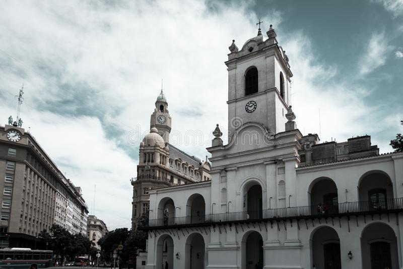 Budynki zbliżają plac de Mayo obraz royalty free