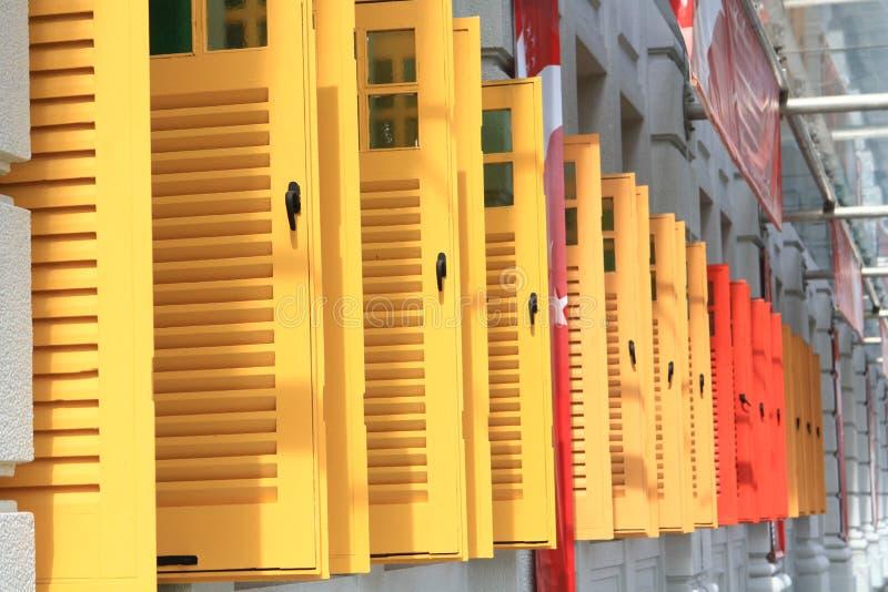budynku łyszczyk Singapore fotografia royalty free