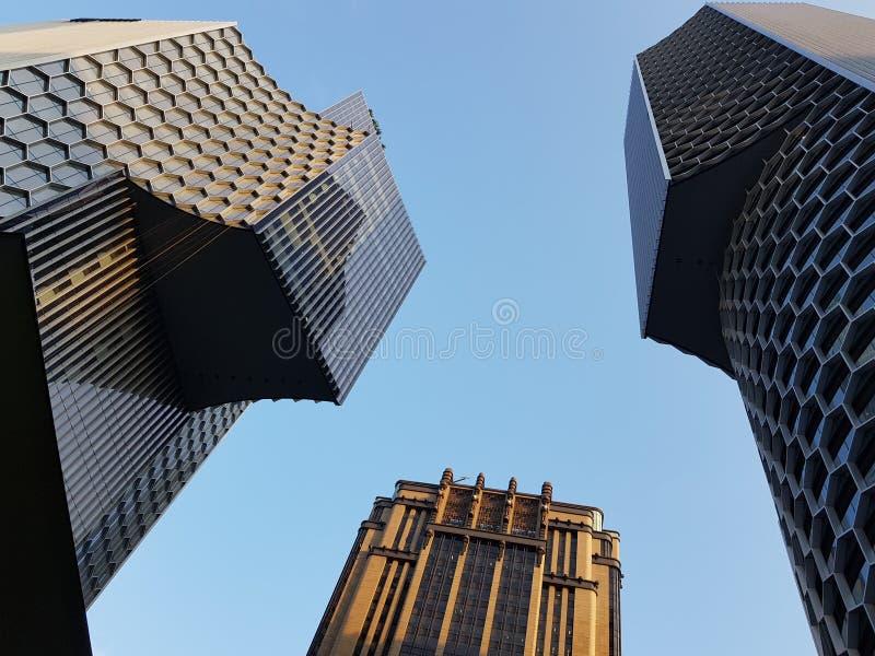 Budynku abd niebo zdjęcie royalty free