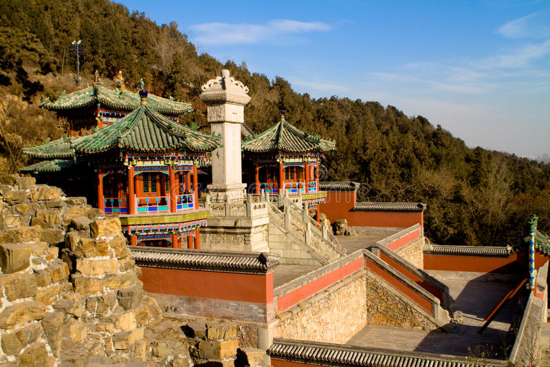 budynku antyczny chińczyk obraz royalty free