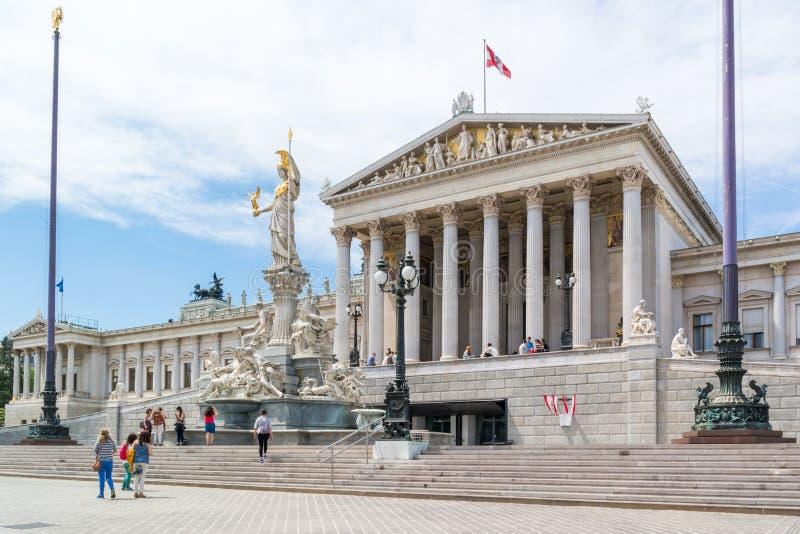 budynku austriacki parlament Vienna fotografia stock