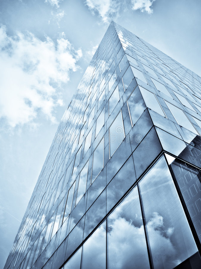 budynku błękitny biuro fotografia royalty free