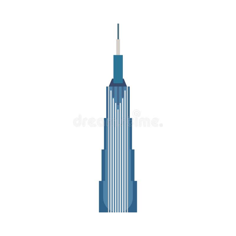 Budynku biurowego miasta pojęcia wektoru biznesowa ikona Nowożytnej zewnętrznej architektury drapacz chmur szklana reklama ilustracji