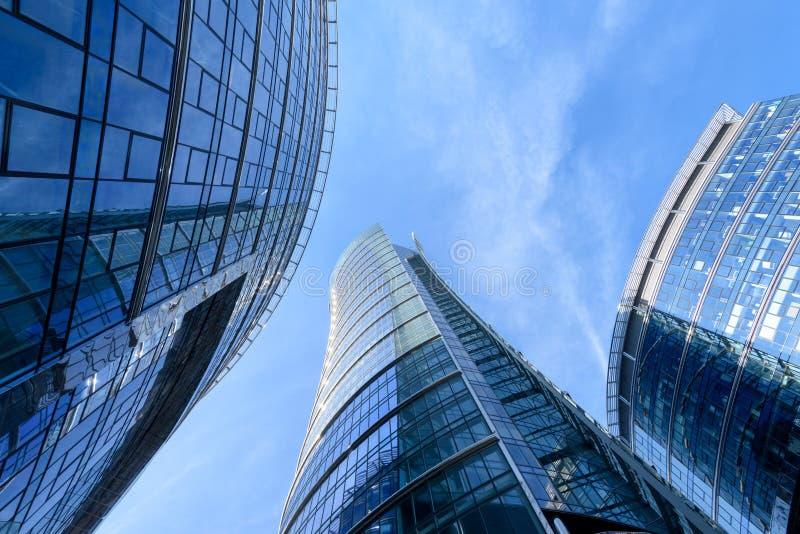 Budynku biurowego Warszawa iglica zdjęcie stock