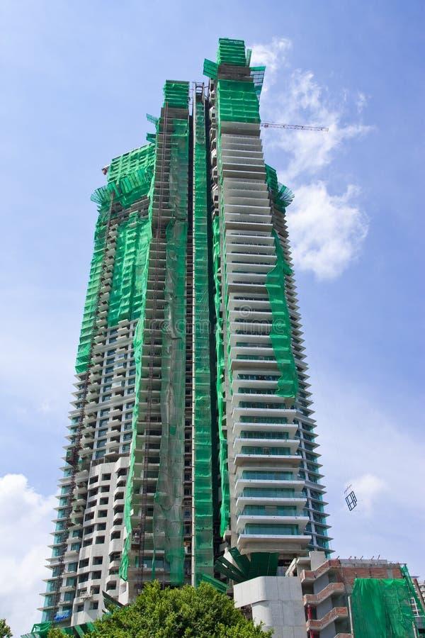 budynku budowy wysoki poniższy fotografia stock