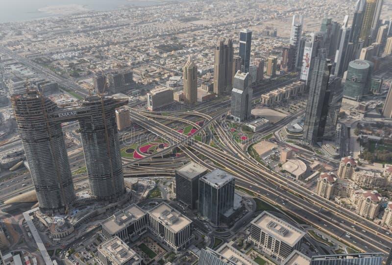 budynku burj khalifa wysoki świat Dubaj fotografia stock