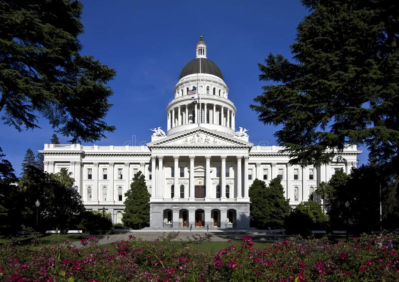 budynku California capitol stan zdjęcia stock