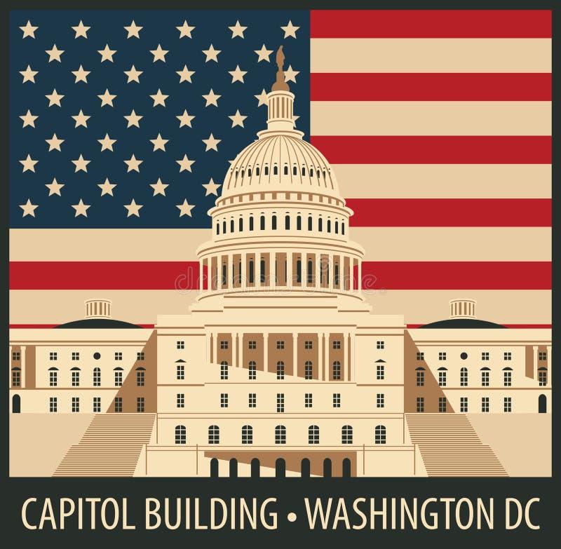 budynku capitol dc Washington ilustracja wektor
