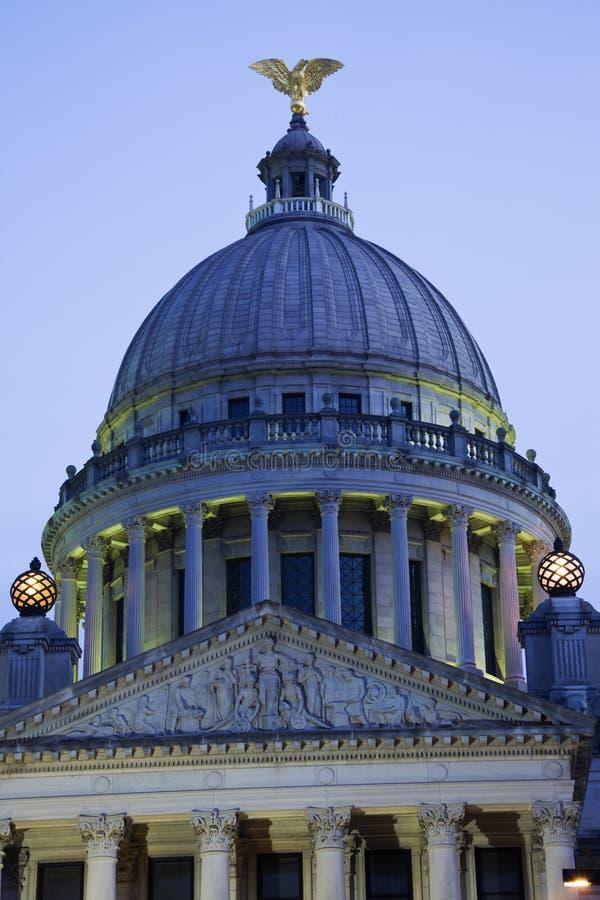 budynku capitol Jackson Mississippi stan zdjęcie stock