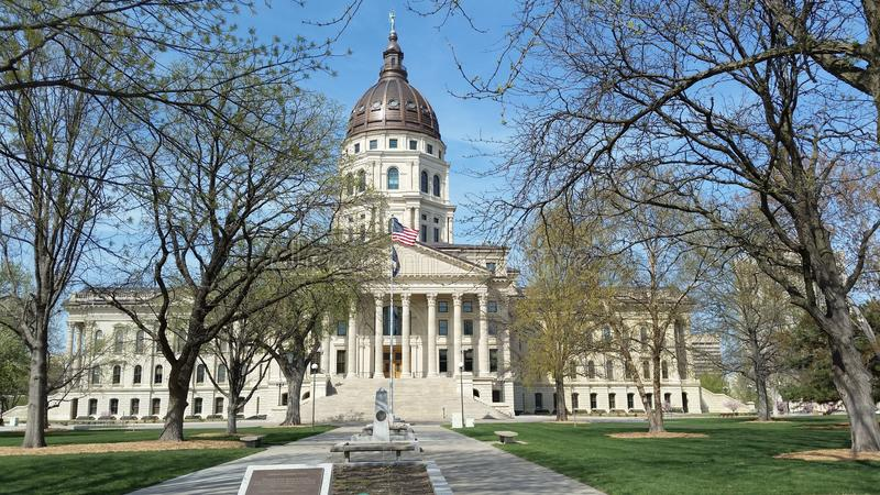 budynku capitol Kansas stan obraz stock