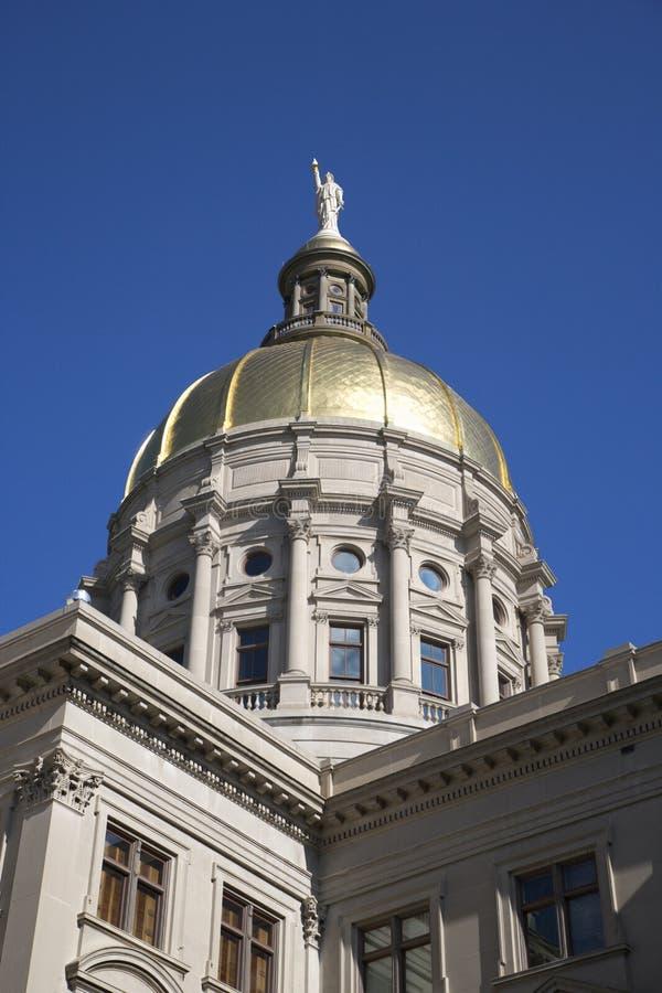 budynku capitol kopuły złoty stan zdjęcie royalty free