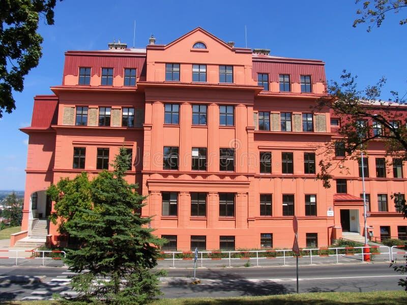 budynku czerwieni szkoła zdjęcie royalty free