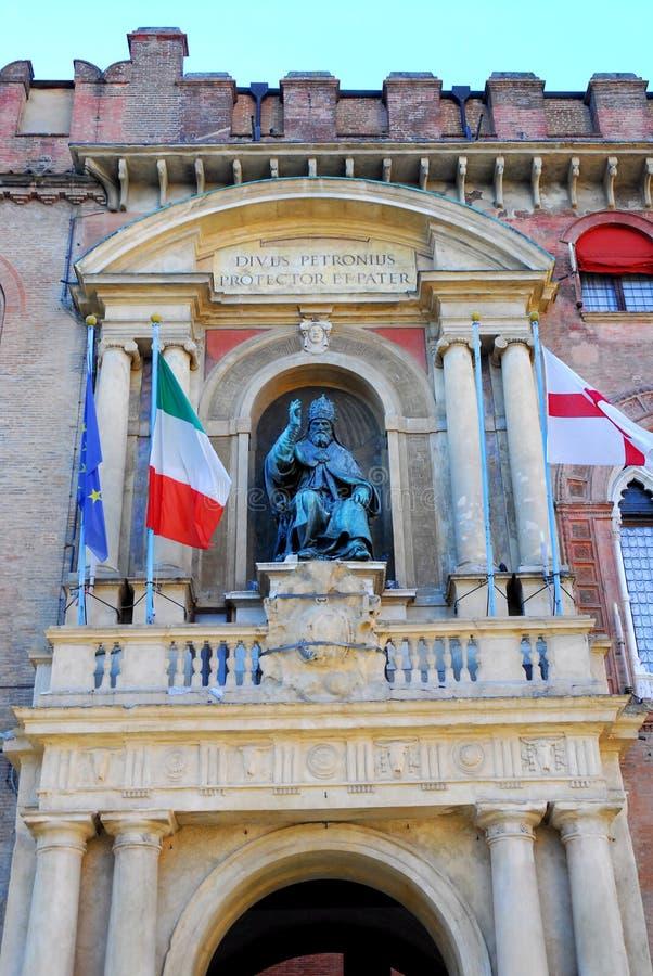 Budynku d'Accursio miejski lub centrum miasta w Bologna w Emilia Romagna (Włochy) zdjęcia stock