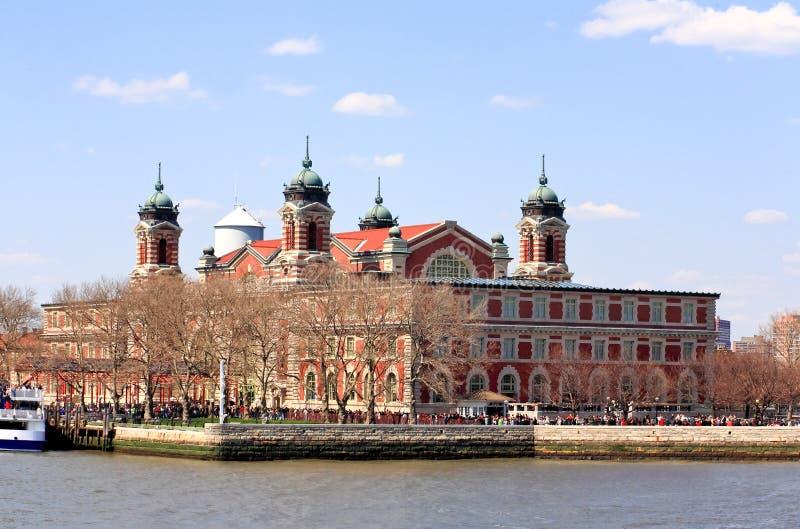 budynku ellis imigracyjna wyspy magistrala zdjęcie royalty free