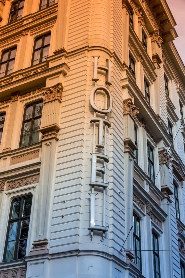 budynku fabryczny historyczny hotelu znaka styl fotografia stock