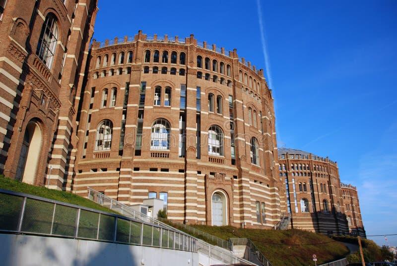 budynku gazometr Vienna obraz stock