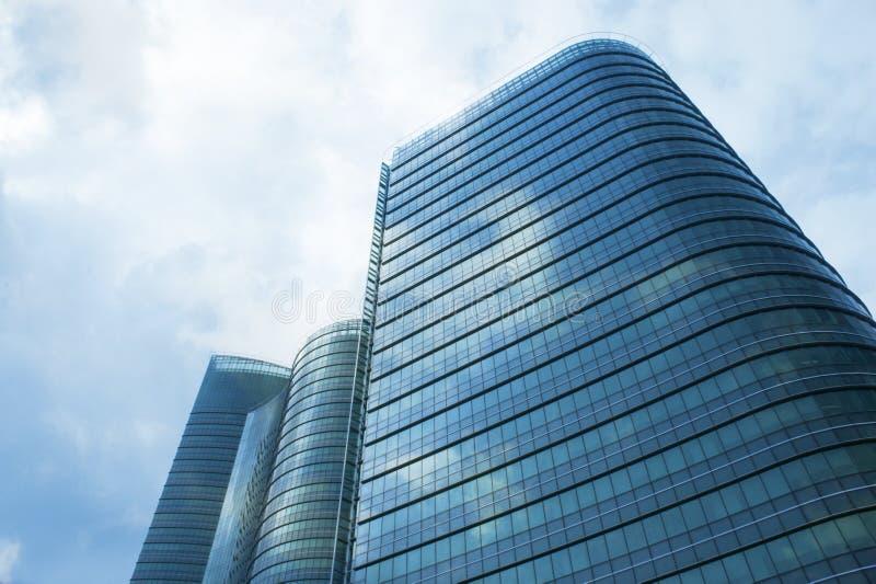 budynku hight niebo zdjęcia royalty free
