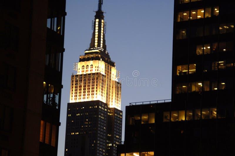 budynku imperium nocy stan fotografia royalty free