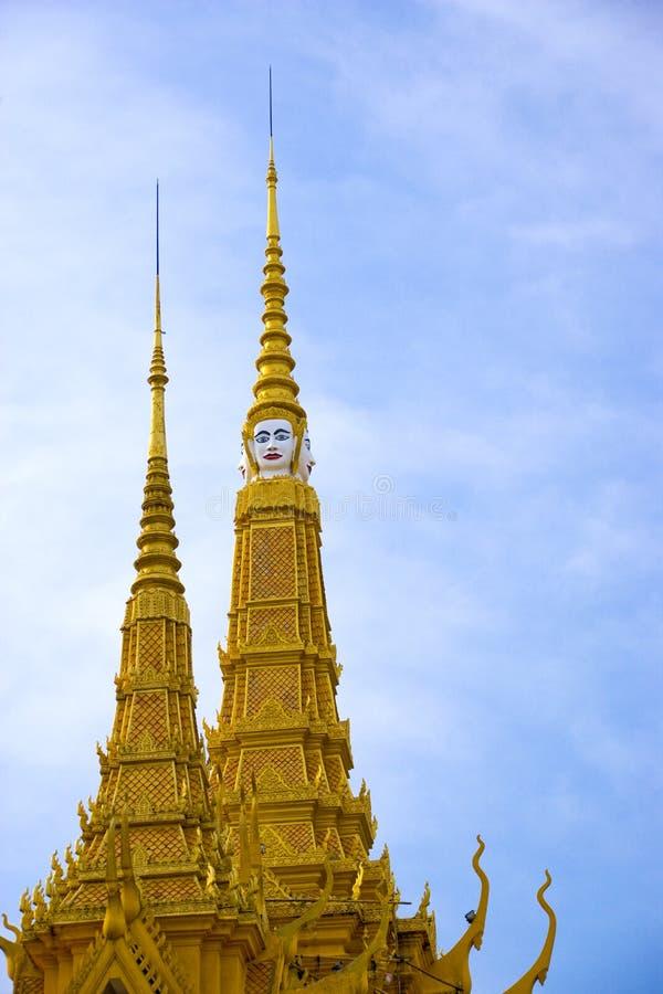 budynku kambodżańskiego pałac królewskie iglicy zdjęcie stock