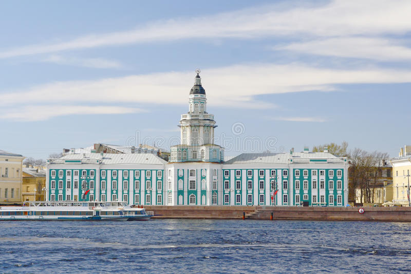 budynku kunstkamera Petersburg Russia święty zdjęcie royalty free
