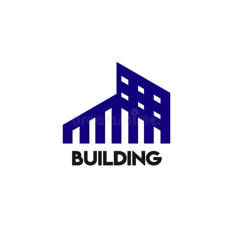 Budynku loga szablonu projekta Wektorowa ilustracja ilustracja wektor
