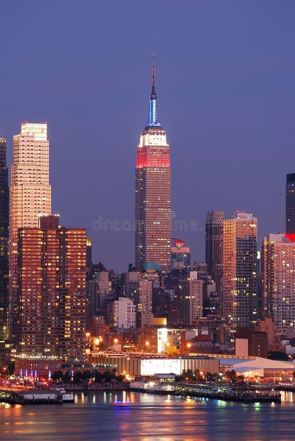 budynku miasta imperium Manhattan nowy stan York zdjęcia stock