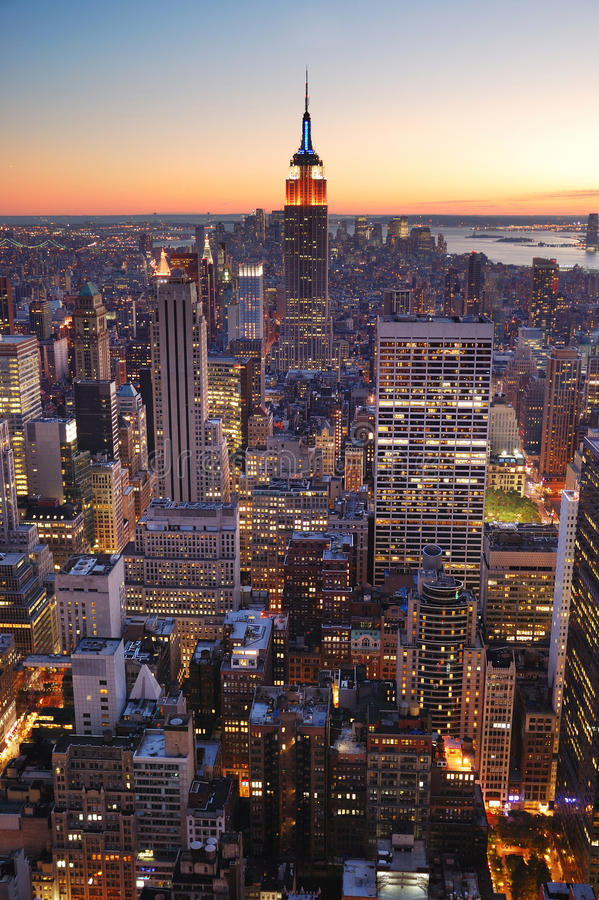 budynku miasta imperium Manhattan nowy stan York obraz royalty free
