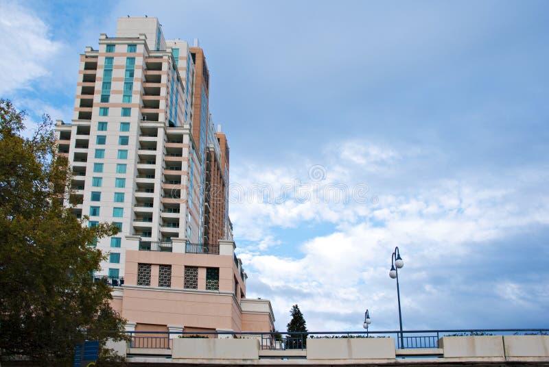 budynku miasta lampa wysoka fotografia stock