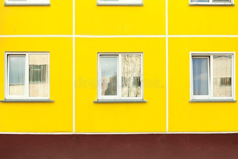 Budynku mieszkaniowego zamknięty up, kondominium budowa Modny żywy architektura styl zdjęcia stock