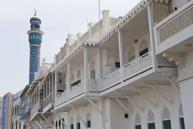 budynku muszkatołowy Oman stylowy tradycyjny zdjęcie stock