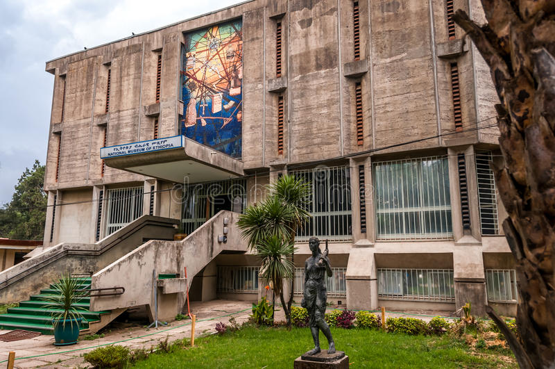 Budynku muzeum narodowe Etiopia fotografia royalty free