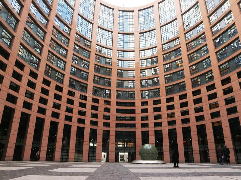 budynku parlament europejski Strasbourg fotografia stock