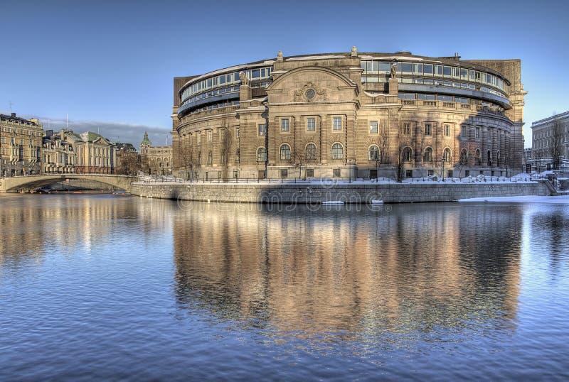 budynku parlamentu szwedzi fotografia royalty free