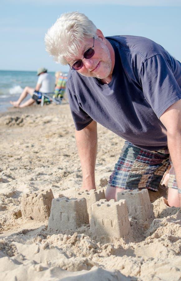 Budynku piaska kasztele podczas emerytura zdjęcie stock