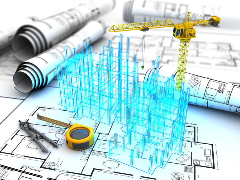 Budynku projekt ilustracja wektor