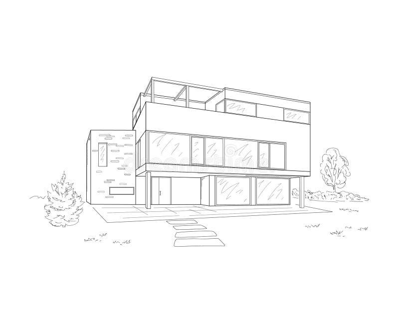 Budynku rysunek ilustracji