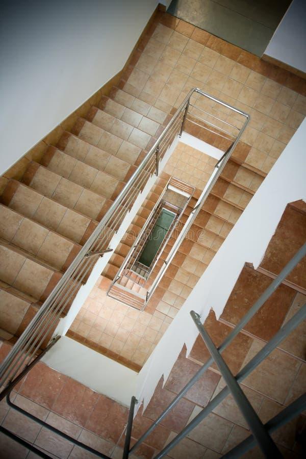 budynku schody biurowy ślimakowaty fotografia royalty free