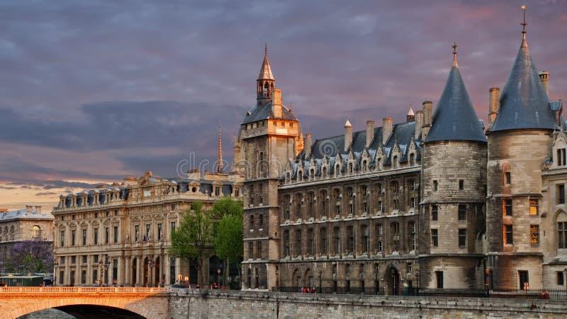 budynku sprawiedliwości pałac Paris widok fotografia royalty free