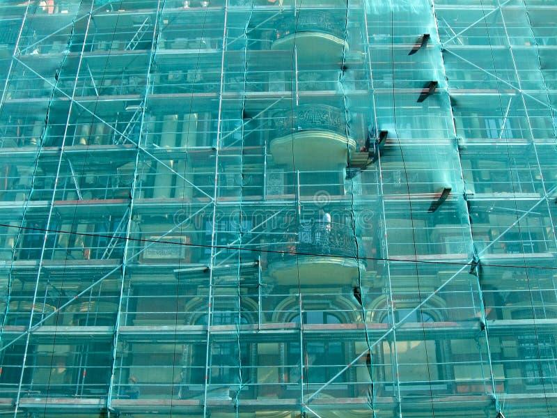 budynku szczegółów zielony siatki przemysłu target1902_0_ zdjęcia royalty free