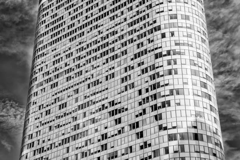 Budynku tło, Basztowy budynek z zaokrąglonymi ścianami, los angeles obrona, Francja obraz royalty free